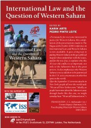 International Law and the Question of Western Sahara (pdf; 1589kb)