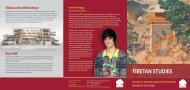 Tibetan Studies at SOAS (pdf; 1285kb) - The School of Oriental and ...