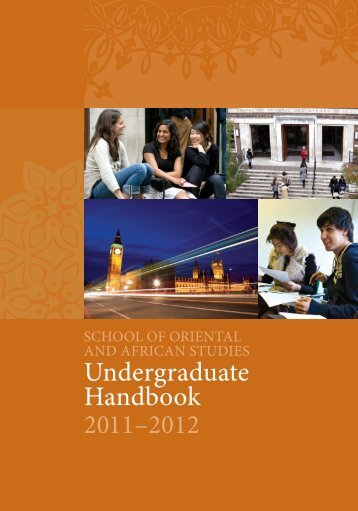 SOAS Undergraduate Regulations 2011-2012 - The School of ...