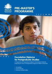 FDPS Brochure (pdf; 477kb) - The School of Oriental and African ...