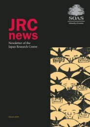 Newsletter of the Japan Research Centre - The School of Oriental ...