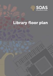 SOAS Library Floor Plan (pdf; 3mb)