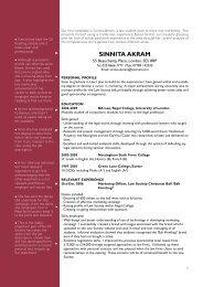 Example CV 1 (pdf; 35kb)