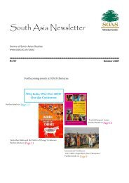 South Asia Newsletter - The School of Oriental and African Studies