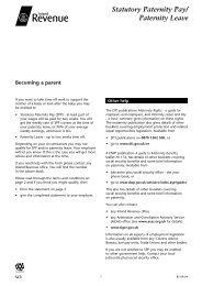 Statutory Paternity Pay / Paternity Leave Form (pdf; 100kb)