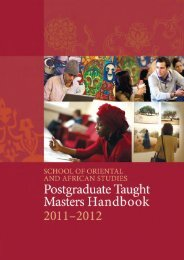 SOAS Postgraduate Taught Masters Regulations 2011-2012