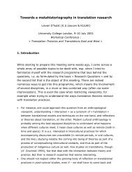 Towards a metahistoriography in translation research