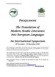 The Translation of Modern Arabic Literature Into European Languages