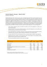 Interim Report, January – March 2012 - Sobi