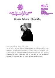 Gregor Seberg Gregor Seberg - Biografie Biografie Biografie