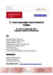 3. Internationales Humorfestival Velden - Agentur Sobieszek