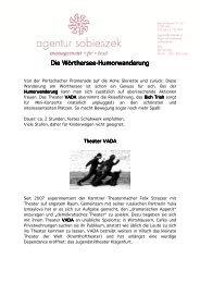 Die Wörthersee Die Wörthersee-Humorwanderung ...