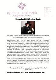 George Sand trifft Frédéric Chopin George Sand trifft Frédéric Chopin