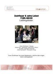 Steinhauer & seine Lieben FEIER.ABEND Lieblingslieder.