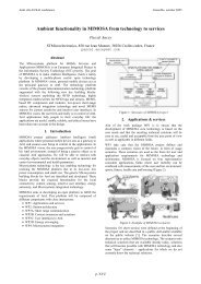 Ambient functionality in MIMOSA from technology ... - sOc-EUSAI 2005