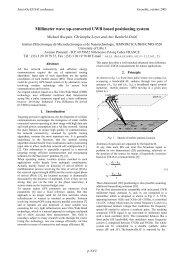 Millimeter wave up-converted UWB based ... - sOc-EUSAI 2005
