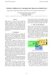 A Reflective Middleware for Controlling Smart ... - sOc-EUSAI 2005