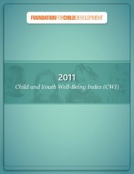 2011 Child and Youth Well-Being Index (CWI) - Foundation for Child ...