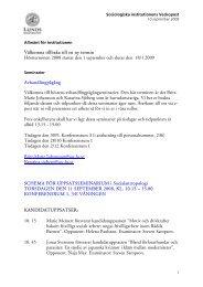 Välkomna tillbaka till en ny termin Höstterminen 2008 startar den 1 ...