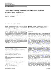 Effects of Background Noise on Cortical Encoding of Speech - Soc ...