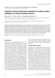 Cognitive factors shape brain networks for auditory skills - Soc ...