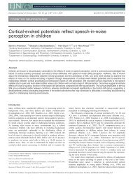 Cortical-Evoked Potentials Reflect Speech-in-Noise Perception in ...