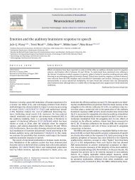 Emotion and the auditory brainstem response to speech - Soc ...