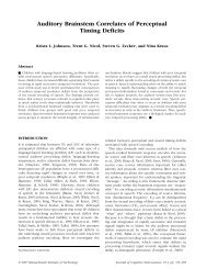 Auditory Brainstem Correlates of Perceptual Timing Deficits