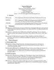 CV Eugenia Mitchelstein - Soc.northwestern.edu - Northwestern ...