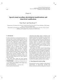 Speech-sound encoding - Soc.northwestern.edu - Northwestern ...
