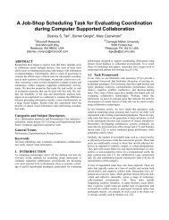 A Job-Shop Scheduling Task for Evaluating Coordination during ...