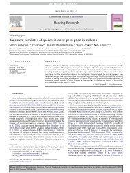 Brainstem correlates of speech-in-noise perception in children - Soc ...