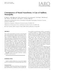 Consequences of Neural Asynchrony: A Case of Auditory Neuropathy