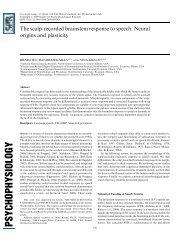 The scalp-recorded brainstem response to speech: Neural origins ...