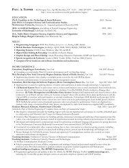 EDUCATION SKILLS WORK EXPERIENCE - Soc.northwestern.edu ...
