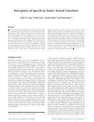Perception of Speech in Noise: Neural Correlates - MIT Press Journals