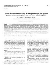 Midline and temporal lobe MLRs in the guinea pig originate from ...