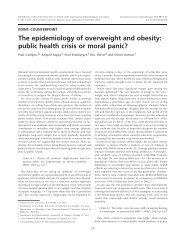 The epidemiology of overweight and obesity: public health crisis or ...