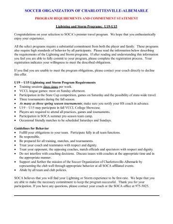 SOCA Spring High School Policy