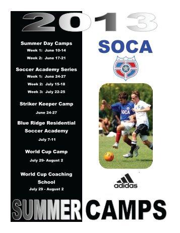 Summer Day Camps Soccer Academy Series Striker Keeper ... - SOCA