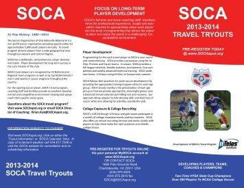 2013 Travel Tryout Brochure - SOCA