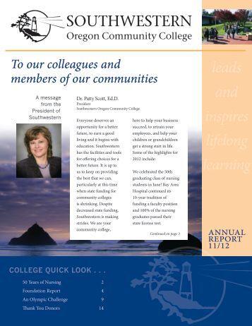 Annual Report 2012 - Southwestern Oregon Community College
