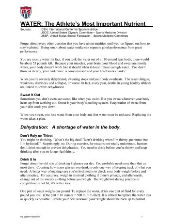 Recommendations For Hydration To Prevent Heat Illness Types Of