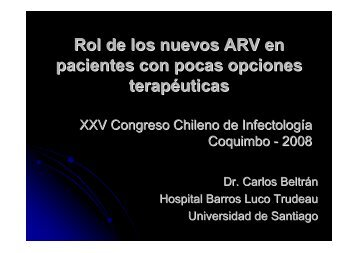 Rol de los nuevos ARV en pacientes con pocas opciones terapéuticas