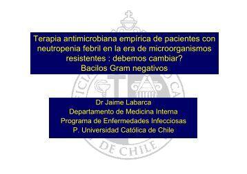 Terapia antimicrobiana empírica de pacientes con neutropenia febril ...