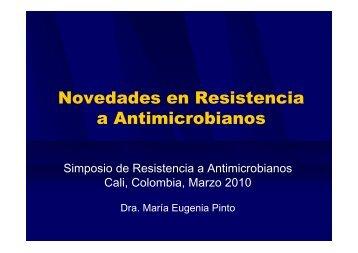 Novedades en Resistencia a Antimicrobianos