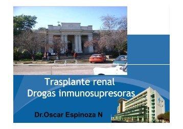 Trasplante renal Drogas inmunosupresoras