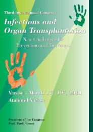 Infections and Organ Transplantation Third International Congress
