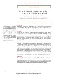 Outbreak of 2009 Pandemic Influenza A (H1N1) at a New York City ...