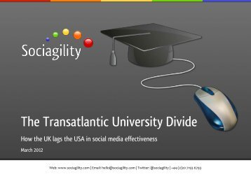 The Transatlantic University Divide - Sociagility